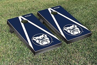 Victory Tailgate NCAA Triangle Wooden Version 2 Cornhole Game Set; Butler Bulldogs