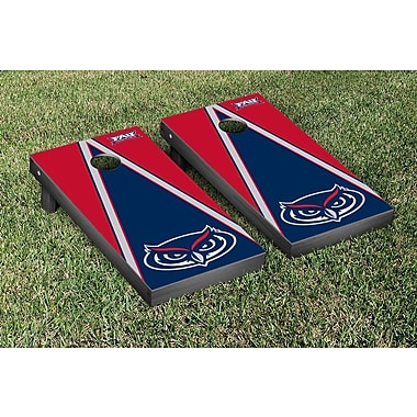 Victory Tailgate NCAA Triangle Wooden Version 2 Cornhole Game Set; Florida Atlant University