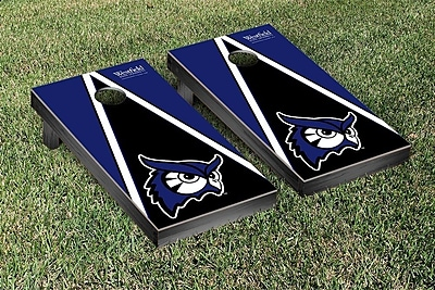 Victory Tailgate NCAA Triangle Wooden Version 2 Cornhole Game Set; Westfield State University Owls