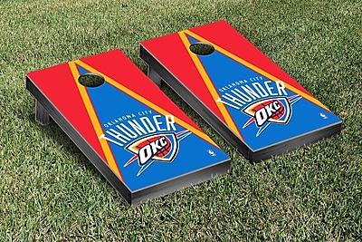 Victory Tailgate NBA Triangle Version Cornhole Game Set; Oklahoma City Thunder