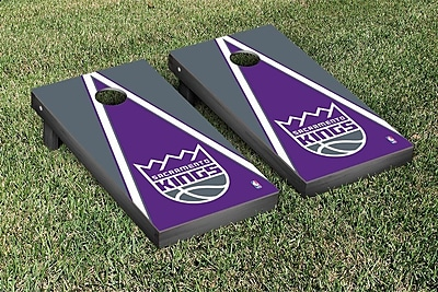 Victory Tailgate NBA Triangle Version Cornhole Game Set; Sacramento Kings