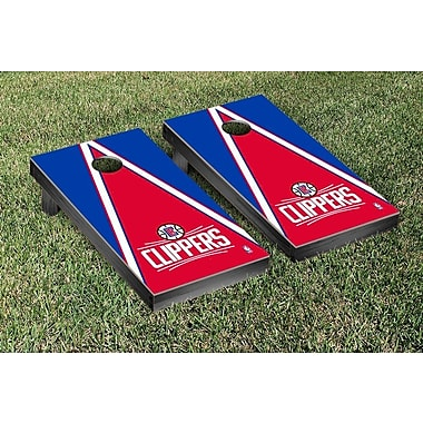 Victory Tailgate NBA Triangle Version Cornhole Game Set; Los Angeles Clippers