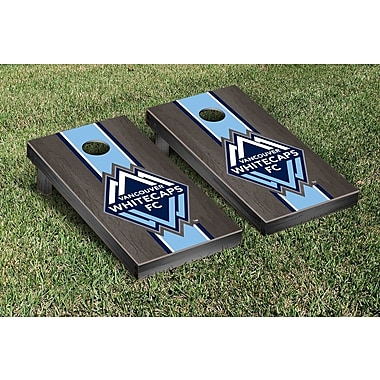 Victory Tailgate MLS Stained Stripe Version Cornhole Game Set; Vancouver Whitecaps FC Caps