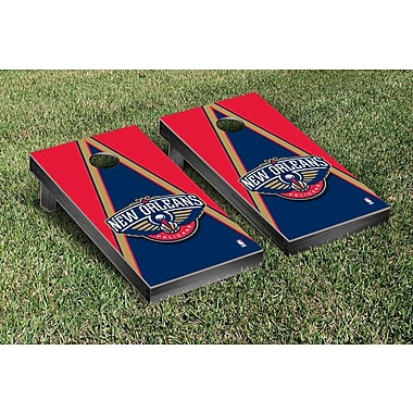 Victory Tailgate NBA Triangle Version Cornhole Game Set; New Orleans Pelicans