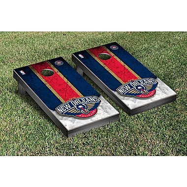 Victory Tailgate NBA Vintage Version Cornhole Game Set; New Orleans Pelicans