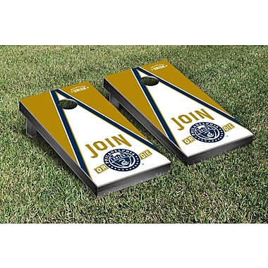 Victory Tailgate MLS Triangle Version Cornhole Game Set; Philadelphia Union Zolos