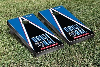 Victory Tailgate MLS Triangle Version Cornhole Game Set; San Jose Earthquakes Goonies