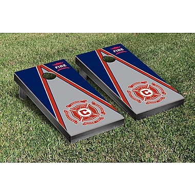 Victory Tailgate MLS Triangle Version Cornhole Game Set; Chicago Fire