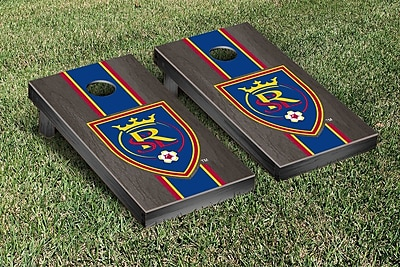 Victory Tailgate MLS Stained Stripe Version Cornhole Game Set; Real Salt Lake Royals