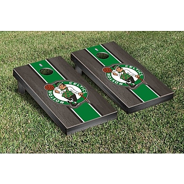 Victory Tailgate NBA Stained Stripe Version Cornhole Game Set; Boston Celtics