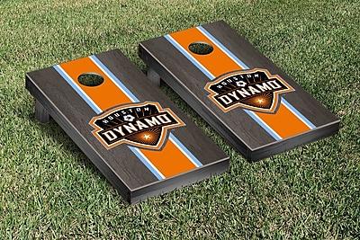 Victory Tailgate MLS Stained Stripe Version Cornhole Game Set; Houston Dynamo