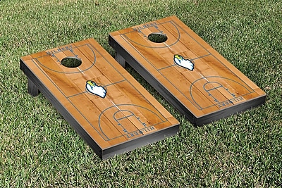 Victory Tailgate NCAA Basketball Court Cornhole Game Set; Hilbert Hawks