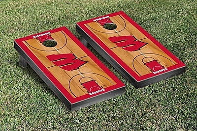 Victory Tailgate NCAA Basketball Court Cornhole Game Set; Wisconsin Badgers