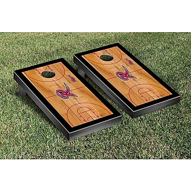 Victory Tailgate NCAA Basketball Court Cornhole Game Set; Rider University Broncos
