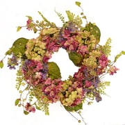 Floral Home Decor 21'' Hydrangea and Berry Wreath
