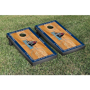 Victory Tailgate NCAA Basketball Wooden Cornhole Game Set; University of Maine Black Bears