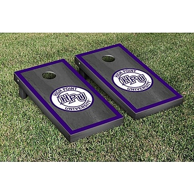 Victory Tailgate NCAA Onyx Stained Border Version Cornhole Bag Toss Game Set; High Point Panthers