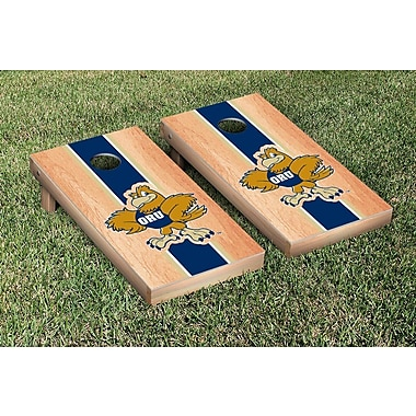 Victory Tailgate NCAA Hardcourt Striped Version Cornhole Game Set; Oral Roberts ORU Golden Eagles
