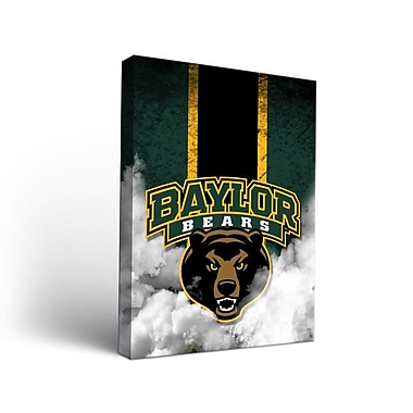 Victory Tailgate NCAA Baylor Bears Grunge Framed Graphic Art on Wrapped Canvas