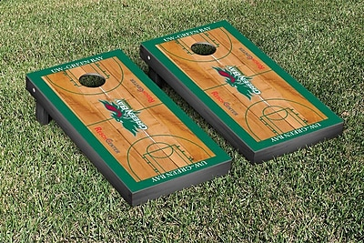 Victory Tailgate NCAA Basketball Wooden Cornhole Game Set; University of Wisconsin Green Bay Phoenix WYF078277124769