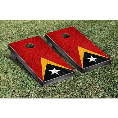 Victory Tailgate Country Rippled Flag Cornhole Game Set; East Timor
