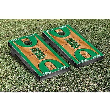 Victory Tailgate NCAA Basketball Version Cornhole Bean Bag Toss Game; North Texas Mean Green