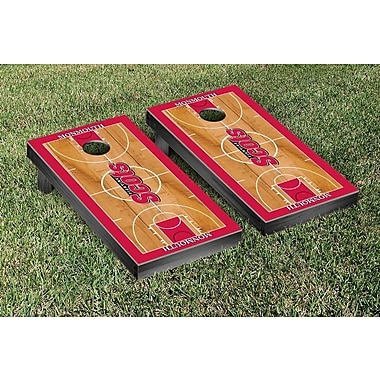 Victory Tailgate NCAA Basketball Court Cornhole Game Set; Monmouth College Fighting Scots