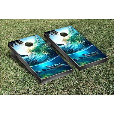 Victory Tailgate Tropical Wave Turtles Cornhole Game Set