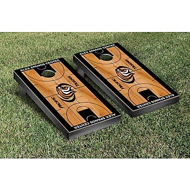 Victory Tailgate NCAA Basketball Version Cornhole Bean Bag Toss Game; University of Pacific Tigers