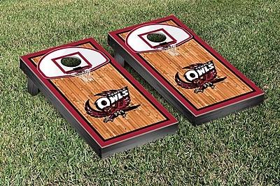 Victory Tailgate NCAA Basketball Court Cornhole Game Set; Temple University Owls