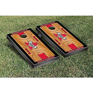 Victory Tailgate NCAA Basketball Wooden Cornhole Game Set; Valdosta State University Blazers
