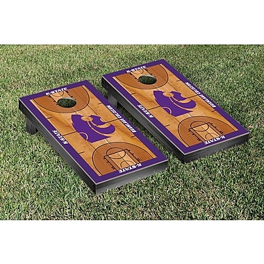 Victory Tailgate NCAA Basketball Wooden Cornhole Game Set; Kansas State University Wildcats