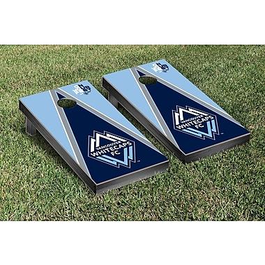 Victory Tailgate MLS Triangle Version Cornhole Game Set; Vancouver Whitecaps FC Caps