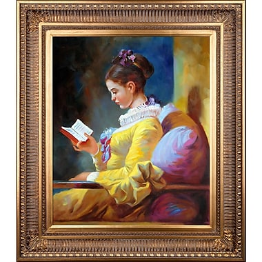 Tori Home 'A Young Girl Reading' by Jean-Honor Fragonard Framed Painting Print
