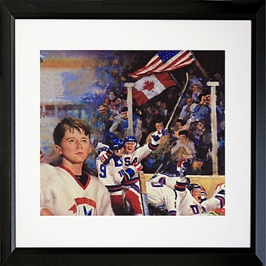 Buy Art For Less 'Dreaming to Be a Hockey Player' Framed Print