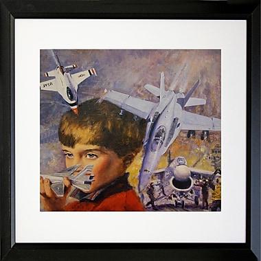 Buy Art For Less 'Dreaming to Be a Pilot I' Framed Print