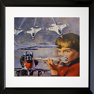 Buy Art For Less 'Dreaming to Be a Pilot II' Framed Print