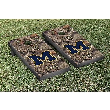 Victory Tailgate NCAA Mossy Oak Version Cornhole Game Set; Michigan Wolverines