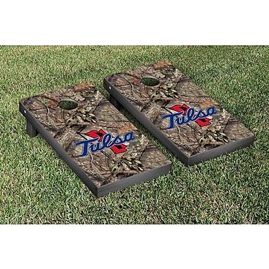 Victory Tailgate NCAA Mossy Oak Version Cornhole Game Set; University of Tulsa Golden Hurricanes