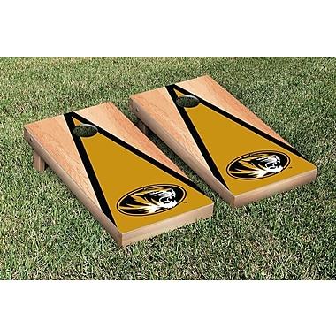 Victory Tailgate NCAA Hardcourt Triangle Version Cornhole Game Set; Missouri Tigers