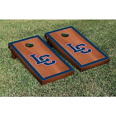 Victory Tailgate NAIA Rosewood Stained Border Version Cornhole Game Set; Lewis Clark Warriors