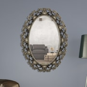 Majestic Mirror Oval Beveled Glass Framed Wall Mirror