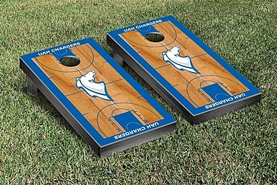 Victory Tailgate NCAA Basketball Wooden Cornhole Game Set