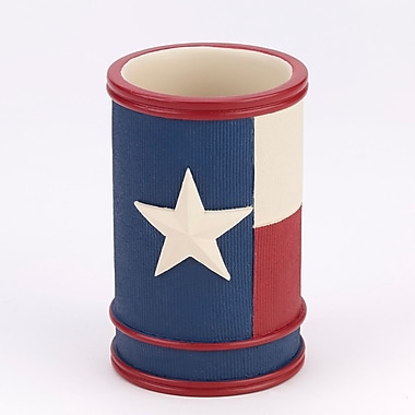 Avanti Linens Texas Star Tumbler and toothbrush holder