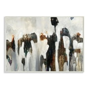 Stupell Industries Black White and Brown Rocks Wall Art on Wood