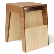Brave Space Design Hollow End Table; Amber