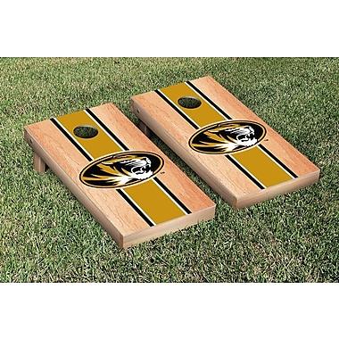 Victory Tailgate Stripe Hardcourt Version Cornhole Game Set; Missouri Tigers