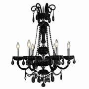 Worldwide Lighting Carnivale 6-Light Candle-Style Chandelier