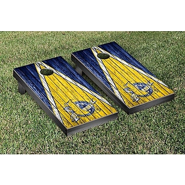 Victory Tailgate NCAA Weathered Triangle Version Cornhole Game Set; Southern Jaguars