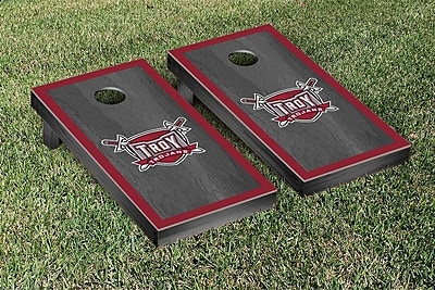 Victory Tailgate NCAA Onyx Stained Border Version Cornhole Bag Toss Game Set